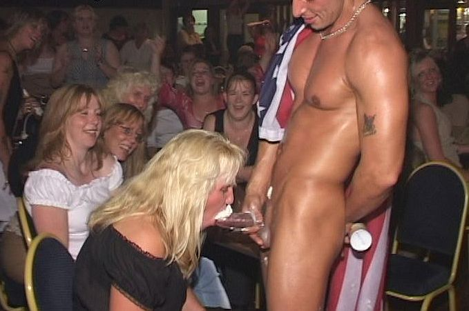 Teens enjoying strippers at a party